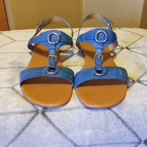 Franco Sarto, blue leather sandals